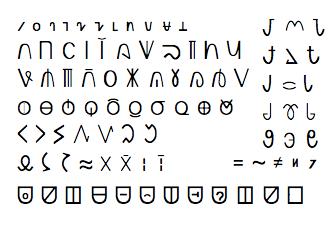 Writing signs and symbols
