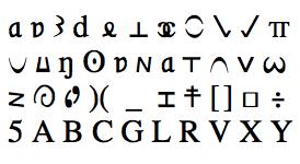 Write with symbols